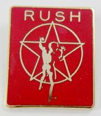 Rush - 'Star Man' Red Enamel Badge